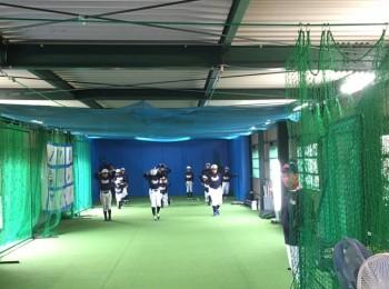 チーム所有の室内練習場