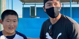2020.12.6 CHONO選手、TAMA選手が遊びに来てくれました!!